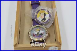 1997 Disney Disneyland 60th Snow White Villain Evil Queen Cast LE Pin and Watch