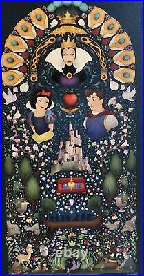 2020 Disney Parks Jason Ratner LE Canvas Wrap Snow White Seven Dwarfs Evil Queen