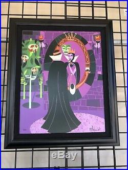 2020 Disney Parks McBiff LE Frame Giclee Villains Vanity Evil Queen Snow White