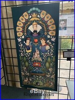 2020 Epcot Festival The Arts Jason Ratner LE Canvas Wrap Snow White Evil Queen