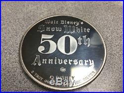 5 oz DISNEY Snow White 50th Anniversary EVIL QUEEN. 999 Fine Silve