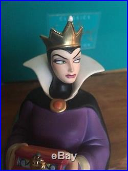 A Disney Wdcc Snow White's Evil Queen Bring Back Her Heart With Coa & Box
