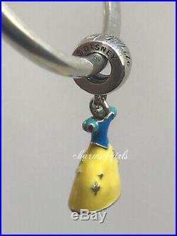 Authentic Pandora Disney Snow White Dress, Evil Queen Charms Set Of 2 Ale 925