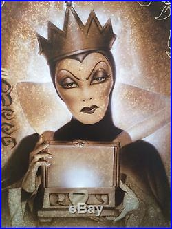 BEHOLD HER HEART signed by NOAH Disney Giclee Canvas SNOW WHITE EVIL QUEEN WALT