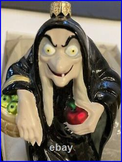 Christopher Radko Snow White Evil Queen As Hag Glass Ornament in Box