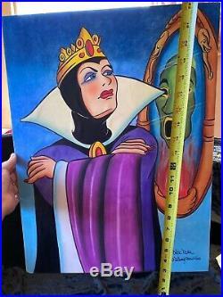 DICK RUHL Dec. 1987 Evil Queen Snow White & Seven Dwarfs Original Art DISNEY