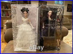 DISNEY D23 Once Upon A Time SNOW WHITE EVIL QUEEN LE LIMITED EDITION DOLL SET