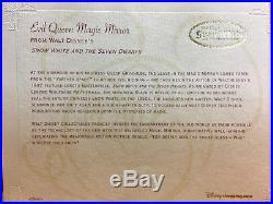 DISNEY EVIL QUEEN MAGIC MIRROR / SNOW WHITE 2 WAY MIRROR With SLAVE 36X28 COA-NEW