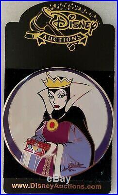 Disney Auctions Elisabete Gomes Evil Queen LE 100 Pin Snow White 7 Dwarfs Signed