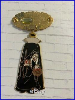 Disney Auctions Villain Spinner Snow White Evil Queen Old Hag Jumbo LE 100 Pin