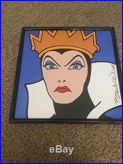 Disney Brenda White Snow White's Evil Queen Tile LE 250 16 x 16 inches
