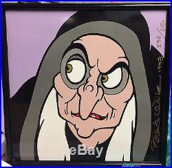 Disney Brenda White Snow White's Evil Queen as OLD HAG 14 Framed Tile LE 250