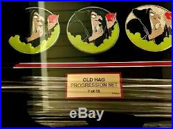 Disney D23 2017 WDI Snow White Old Hag Evil Queen Progression Pin Frame Set LE15