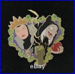 Disney DA Transformation Snow White Evil Queen Old Hag Apple Pin Le 100