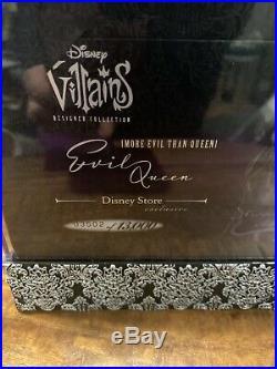 Disney Designer Villains Evil Queen Doll Limited Edition 3502/13000 NIB With Cert