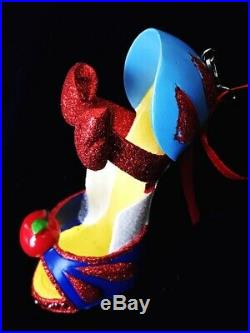 Disney Disneyland Parks The Evil Queen And Snow White Runway Shoe Ornament Lot