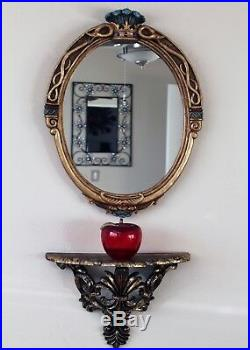Disney Evil Queen Glass Magic Mirror 25 X 19 inch big statue Snow White prop