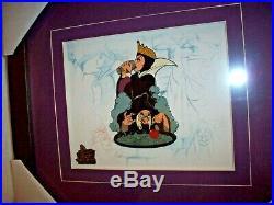 Disney Evil Queen/Hag Animation Sketches Framed Pin Set LE