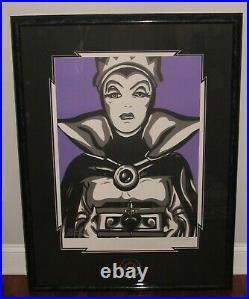 Disney Evil Queen With Malicious Intent Snow White Framed Signed Lithograph