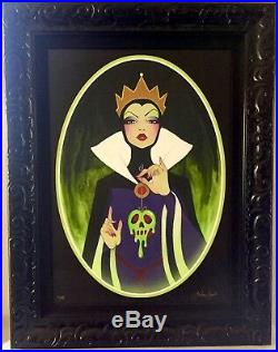 Disney Framed Giclee Evil Most Fair Leilani Joy Evil Queen Snow White Signed Art