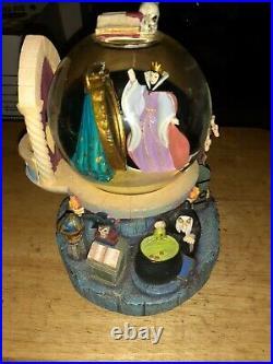 Disney Glitter Snow Globe Talking Magic Mirror Evil Queen Snow White No Box