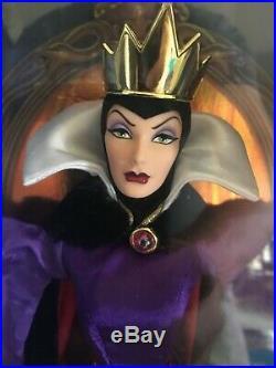 Disney Mattel Evil Queen Snow White And Cruella De VIL Lot Of 2 Dolls Nib