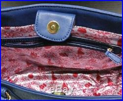 Disney Parks Couture Midnight Blue Evil Queen Snow White Red Apple Purse Tote