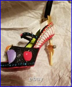 Disney Parks Evil Queen Villains Runway Shoe Ornament Christmas Snow White Nwt