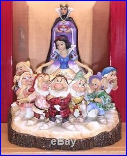Disney Parks Jim Shore Traditions Snow White 7 Dwarf Evil Queen Figurine New