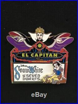 Disney Pin DSF DSSH Snow White Seven Dwarfs Evil Queen El Capitan Marquee Sign