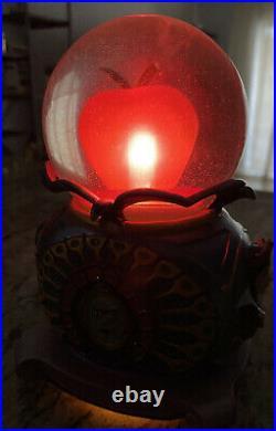 Disney RARE Snow White Evil Queen LIGHT UP Poison Apple Snow Globe BEST PRICE