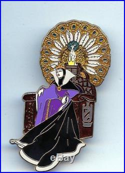 Disney Shopping Snow White Villain Evil Queen on Peacock Throne Jumbo LE 250 Pin