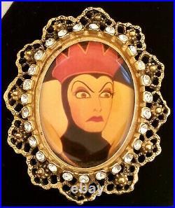 Disney Snow White Evil Queen Cameo Pin Brooch Crystals Rhinestones Rare