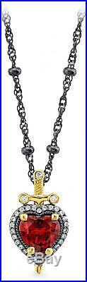 Disney Snow White Evil Queen Dagger Heart Necklace