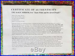 Disney Snow White Evil Queen Glass Magic Mirror 25 x 19 Genuine Replica + COA