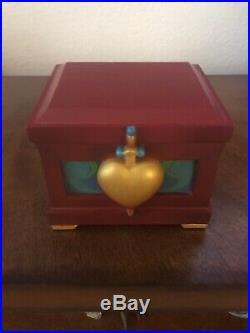 Disney Snow White Evil Queen Heart box & crystal apple ornament LE RARE