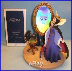 Disney Snow White Evil Queen Magic Mirror Figurine Disney Gallery Lmtd Ed Number