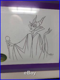 Disney Snow White Evil Queen Maleficent Production Animation Art Cel Pencil