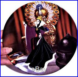 Disney Snow White Evil Queen Plate Ceramic Signed Numbered Villains Vintage Gift