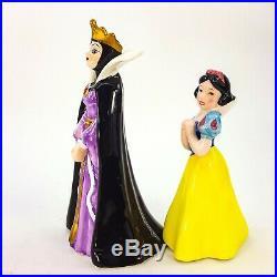 Disney Snow White Seven Dwarfs & Evil Queen Witch Figurine Set 9 Japan Porcelain