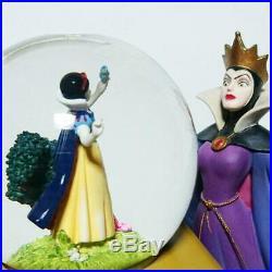 Disney Snow White Snow globe Music Box Villains Evil Queen Figure H21cm