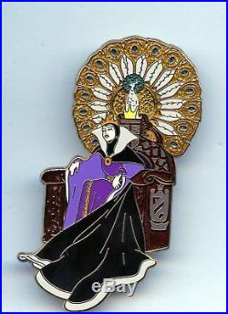 Disney Snow White Villain Evil Queen on Peacock Throne Art Nouveau Jumbo LE Pin