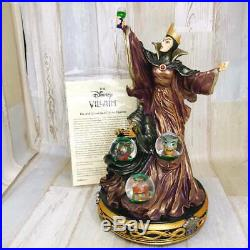 Disney Snow White Witch Old Evil Queen Poison Apple Snow Globe Figure With Light