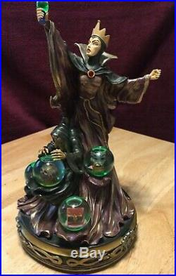 Disney Snow White's Evil Queen Transformation Snow Globe- Perfect Condition And