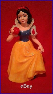 Disney Snow White & the 7 Dwarfs + Evil Queen Large Ceramic Figurines 1960's