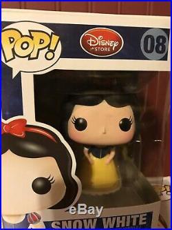 Disney Store Grumpy #46 Evil Queen #42 Snow White #08 Rare Vaulted HTF Funko Pop