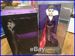 Disney Store Villains Designer Collection LE Evil Queen Doll with COA snow white