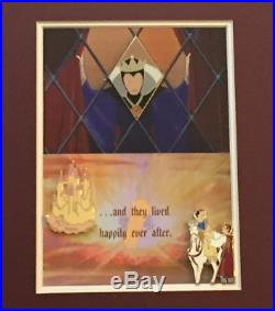 Disney This is Love Snow White Prince Evil Queen Castle Framed Pin Set LE 50