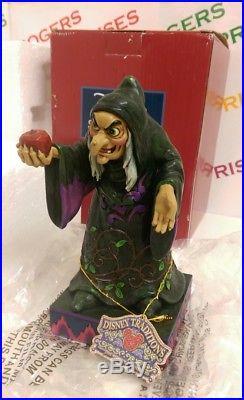 Disney Traditions Showcase Take A Bite Figurine Snow White Evil Queen Box Poor