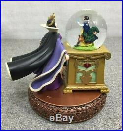 Disney Villains Evil Queen Crystal Ball Snow White Spinning Snow Globe